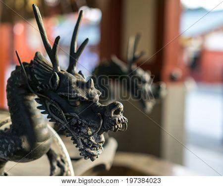 Dragon Statue In Sensoji