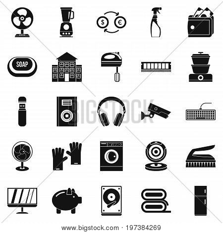 Computer app icons set. Simple set of 25 computer app vector icons for web isolated on white background