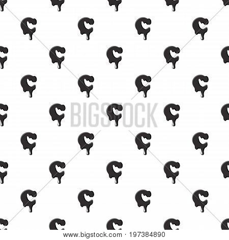 C letter isolated on white background. Black liquid oil C letter vector illustration