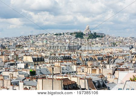 Montmartre - Sacre Coeur And Paris Roof Aerial View
