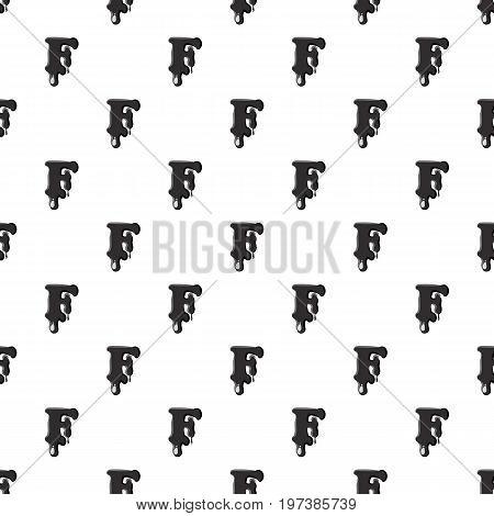 F letter isolated on white background. Black liquid oil F letter vector illustration