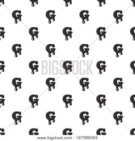 G letter isolated on white background. Black liquid oil G letter vector illustration