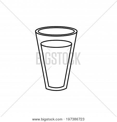 line fesh and delicious natural milk vector illustration