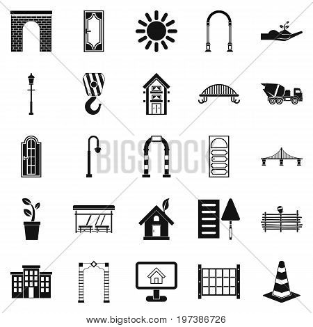 Digging icons set. Simple set of 25 digging vector icons for web isolated on white background