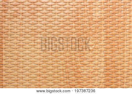 Brown Wooden Rattan Texture Background extreme closeup.