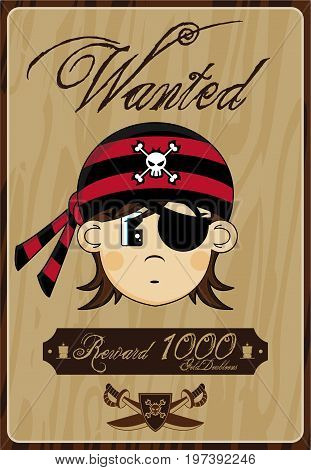 Bandana Pirate Poster Vector Photo Free Trial