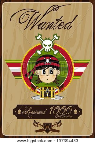 Cute Little Pirate Poster.eps