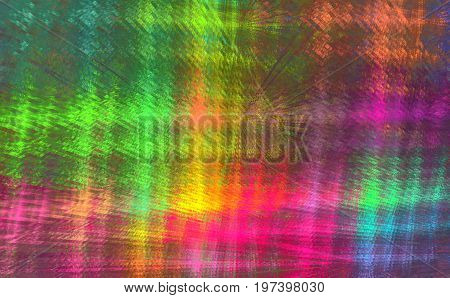 Iridescent checkered fractal pattern plaid. Abstract background.
