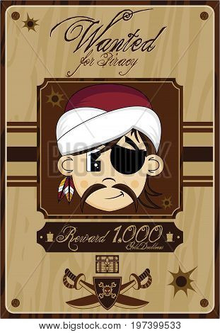 Cute Turban Pirate Poster.eps