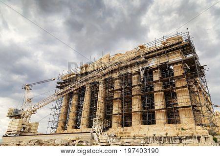 Parthenon Reconstruction At The Acropolis