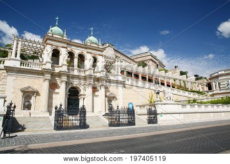 Beautiful Entrance To The Buda Castle With Sculptures Of Lion (lower Part) Budapest