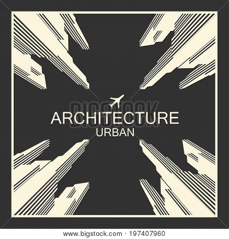 City architecture, vector image of the infrastructure of a megacity