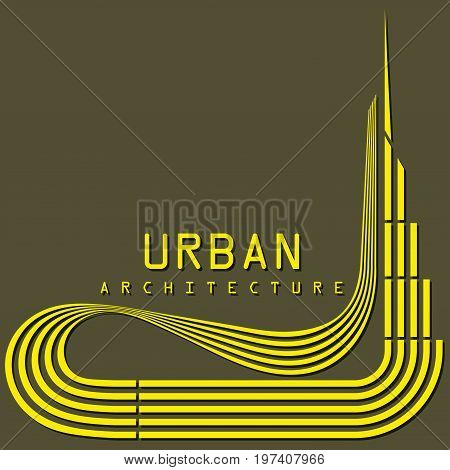 Vector image of a megacity architecture symbol