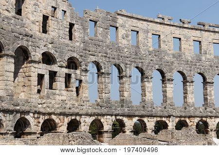 Ancient cirkus arena i pula istrien Croatia