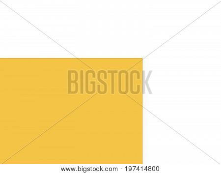 Map island continent simple yellow, vector illustration color cartoon, horizontal