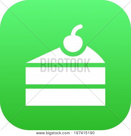 Vector Sweetmeat Element In Trendy Style.  Isolated Cheesecake Icon Symbol On Clean Background.