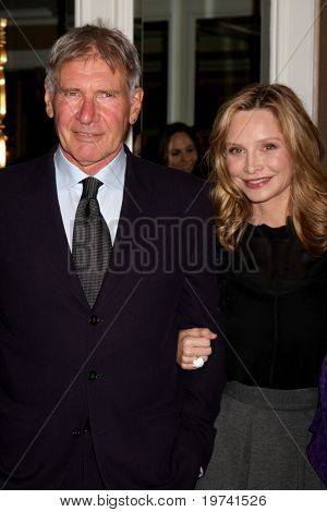LOS ANGELES - OCT 29:  Harrison Ford, Calista Flockhart arrive at the Peace Over Violence Event at Beverly Hills Hotel on October 29, 2010 in Beverly Hills, CA