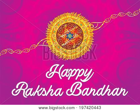 abstract artistic creative rakhi background vector illustration