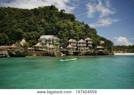 Beach Scenary At Boracay