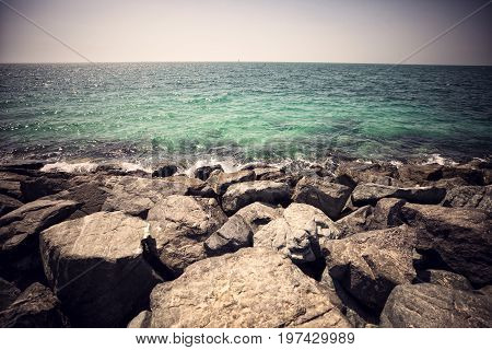rock beach in Dubai United Arab Emirates