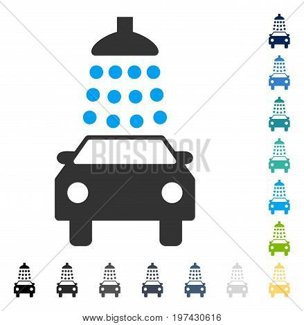 Car Wash icon. Vector illustration style is flat iconic symbol in some color versions.