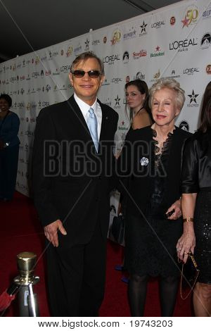 LOS ANGELES - NOV 3:  Michael York, Pat York arrives at the Hollywood Walk of Fame 50th Anniversary Celebration at Hollywood & Highland on November 3, 2010 in Los Angeles, CA