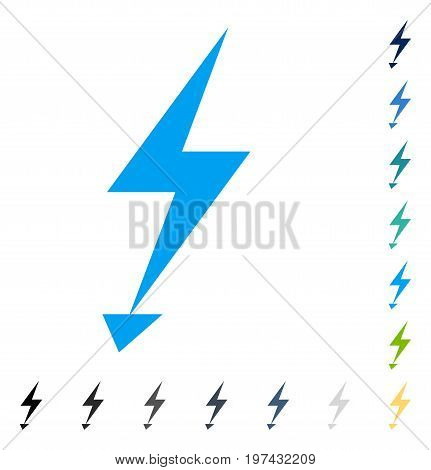 Electric Strike icon. Vector illustration style is flat iconic symbol in some color versions.