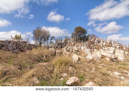 Beautiful rocks. Serra da Canastra National Park is a national park in the Canastra Mountains of the state of Minas Gerais Brazil.