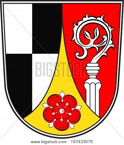 Coat of arms of Roth in Middle Franconia Bavaria of German. Vector illustration from the