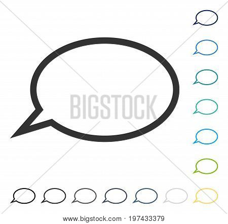Hint Cloud icon. Vector illustration style is flat iconic symbol in some color versions.