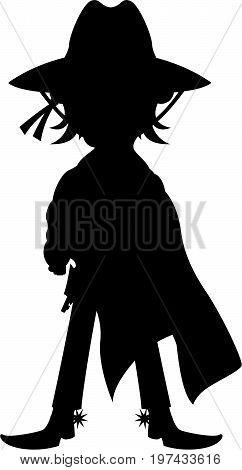 Poncho Cowboy Silhouette.eps