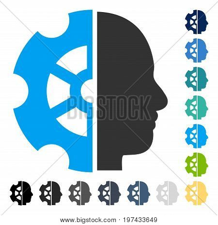 Intellect icon. Vector illustration style is flat iconic symbol in some color versions.