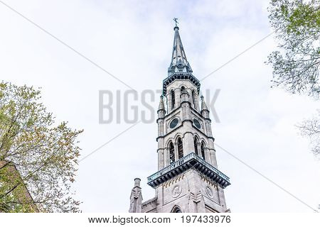 Montreal, Canada - May 26, 2017: Saint Jacques Church On Saint Denis Street In Montreal's Plateau Mo
