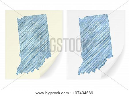 Indiana Scribble Map