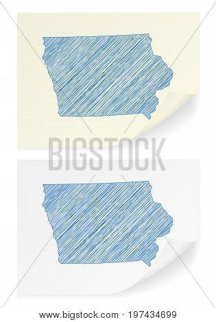 Iowa Scribble Map