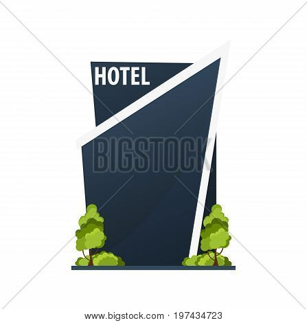 Hotel Building. Guest House. Travel And Trip.
