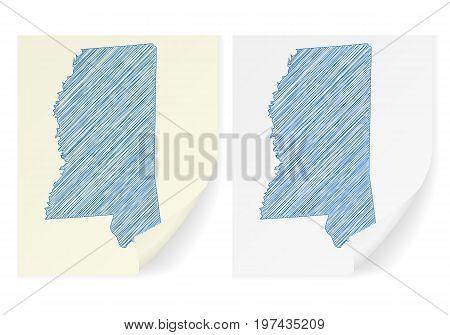 Mississippi Scribble Map