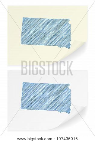 South Dakota Scribble Map