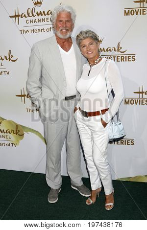 LOS ANGELES - JUL 27:  Barry Bostwick, wife at the Hallmark TCA Summer 2017 Party at the Private Residence on July 27, 2017 in Beverly Hills, CA