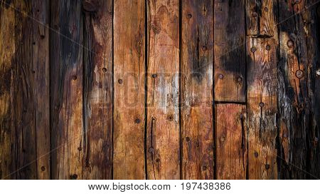 Old Wood Boards On The Deck