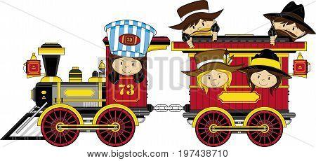 Old West Train & Cowboys.eps
