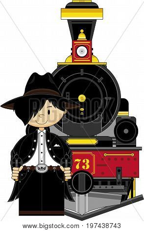 Mini Cowboy Outlaw & Train.eps