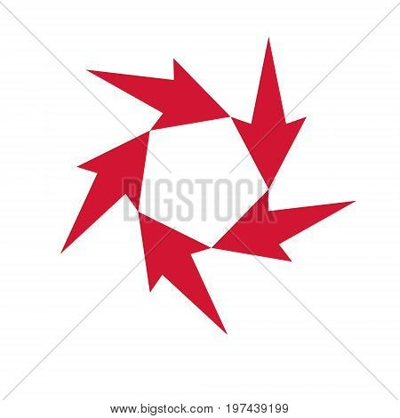 Vector upward multiple trend of business development. Corporate abstract logo spread arrow isolated on white background. Company opportunity concept.