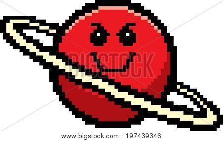 Evil 8-bit Cartoon Planet