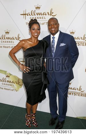 LOS ANGELES - JUL 27:  Holly Robinson Peete, Rodney Peete at the Hallmark TCA Summer 2017 Party at the Private Residence on July 27, 2017 in Beverly Hills, CA