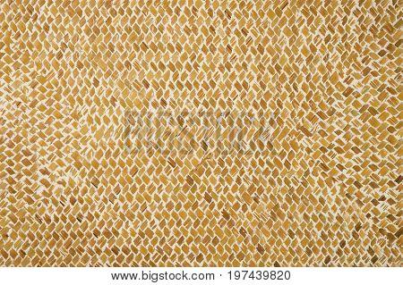 Wicker wattled straw handmade texture abstract background closeup