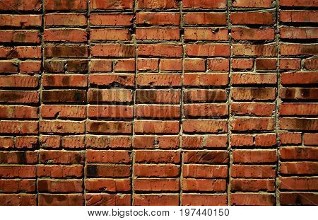 Brickwork. Brick, brick background, brick texture. Brick wall. Firebrick. Grunge brick. Brick. Brown background.