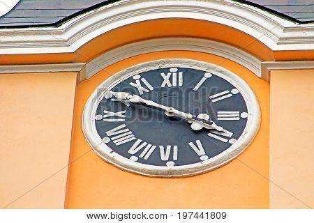 Clock on Reverend Basilica of the Exaltation of the Cross, Chernivtsi, Ukraine