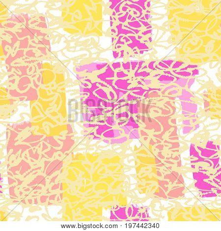 Textile Seamless Graffiti Doodle Pattern