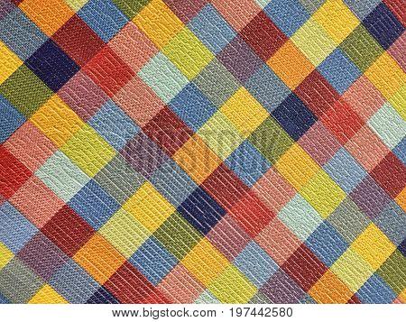 Seamless tartan fabric as the background texture